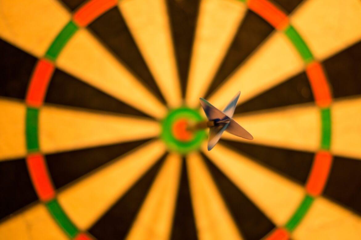 Freccia che colpisce il giusto target