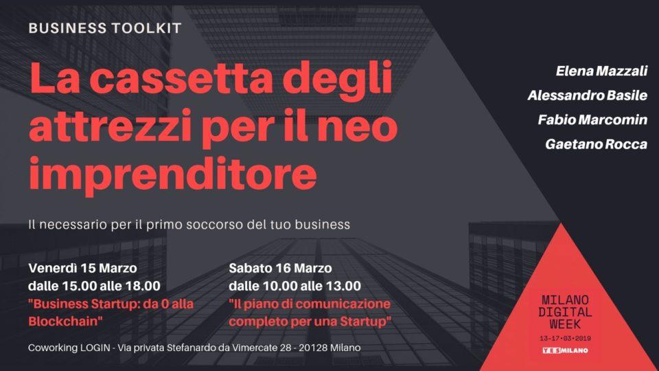 Evento Milano Digital Week - La cassetta degli attrezzi per il nei imprenditore
